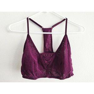 FREE PEOPLE intimately bralette purple lace boho M